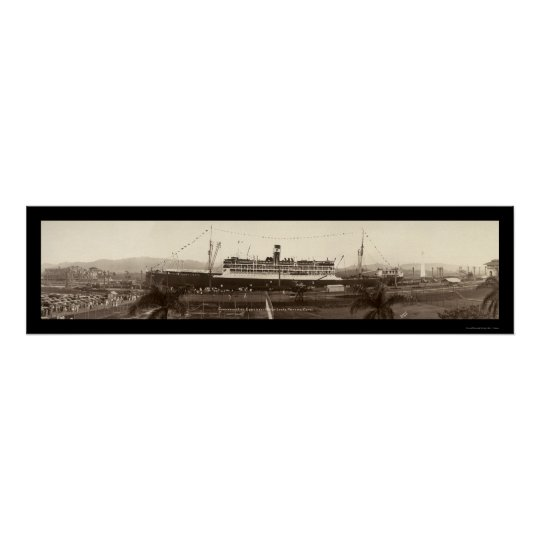 SS Ancon In Panama Photo 1939 Poster
