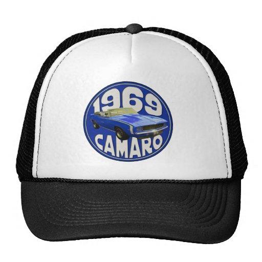 SS Camaro 1969 dark blue Hats