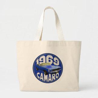 SS Camaro 1969 dark blue Jumbo Tote Bag