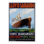 SS Conte Biancamano - Vintage Ship Advertisement
