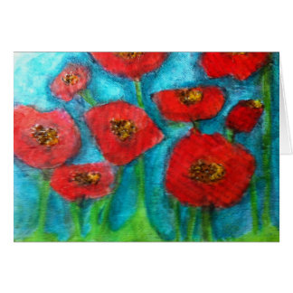 SS Designs - mixed media canvas print Greeting Card
