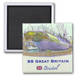 SS Great Britain Square Magnet