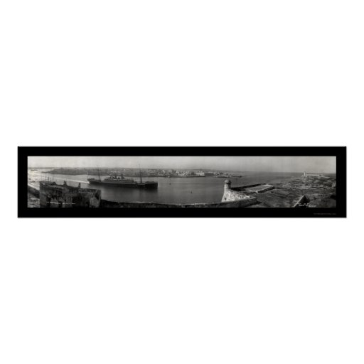 SS Hamburg Havana Photo 1911 Poster