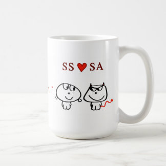 """SS heart SA"" Basic White Mug"