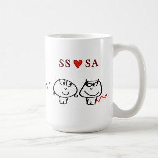 """""""SS heart SA"""" Coffee Mug"""
