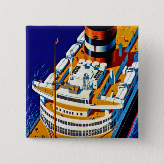 SS Nieuw Amsterdam 15 Cm Square Badge