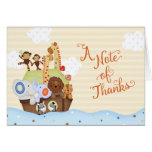 SS Noah / Noah's Ark Baby Shower Thank You Note Card