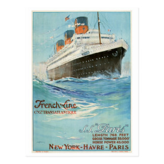 ss Paris - The French Line Postcard