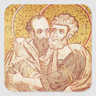 SS. Peter and Paul Embracing Square Sticker
