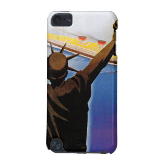 ss Rex passing Statue of Liberty iPod Touch (5th Generation) Cases