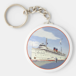 SS South American Basic Round Button Key Ring