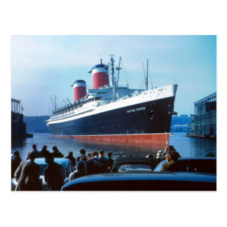 SS United States 1957 Postcard