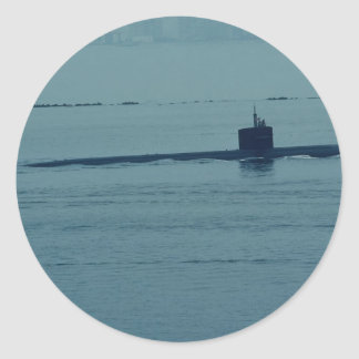 SSN 713 Houston nuclear powered attack sub San Round Sticker
