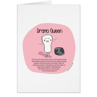 SSPG43-Drama Queen Sweet and Sour Puss Greeting Cards