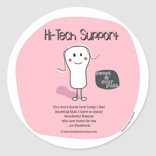 SSPG72-Hi-Tech Support Sweet and Sour Puss Sticker