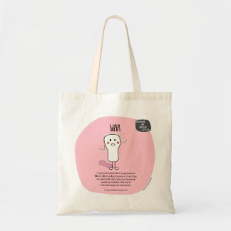 SSPG74-WAA Sweet and Sour Puss Budget Tote Bag