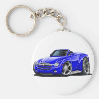 SSR Blue Convertible Basic Round Button Key Ring