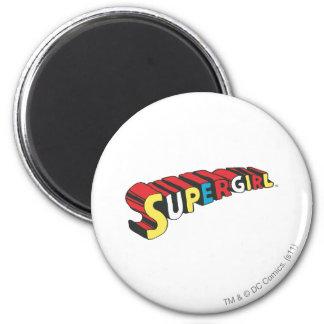 SSupergirl Colorful  Logo Magnet