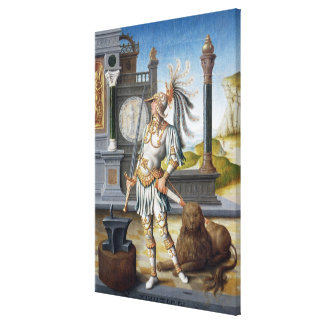 St. Adrian in Armour in an Open Landscape Canvas Print