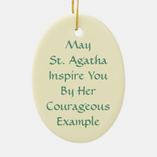 St. Agatha (M 003) Christmas Ornament