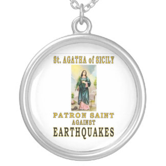 ST. AGATHA of SICILY Silver Plated Necklace