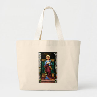 St Agnes of Rome, holding lamb and palm leaf Large Tote Bag