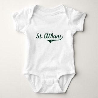 St. Albans Vermont Classic Design Infant Creeper