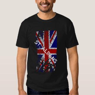 St Albans Vintage Peeling Paint Union Jack Flag Tees
