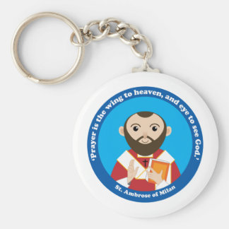 St. Ambrose of Milan Key Chain