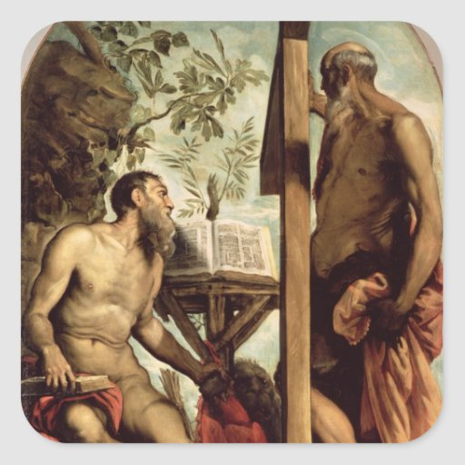 St. Andrew and St. Jerome Stickers