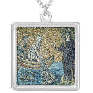 St. Andrew and St. Peter Silver Plated Necklace