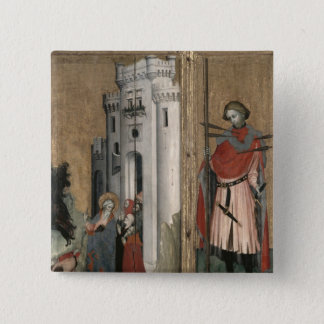 St. Andrew Chasing Demons from the Town 15 Cm Square Badge