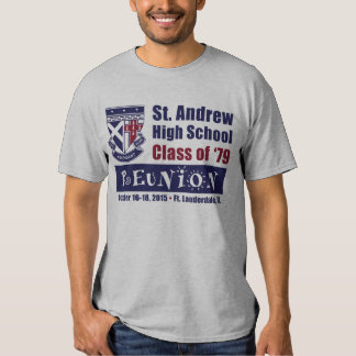 St. Andrew High School Class of 1979 Reunion T Shirts