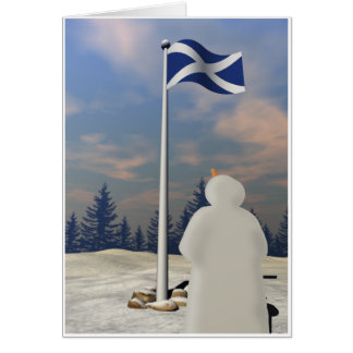 St. Andrew's Saltire Greeting Card