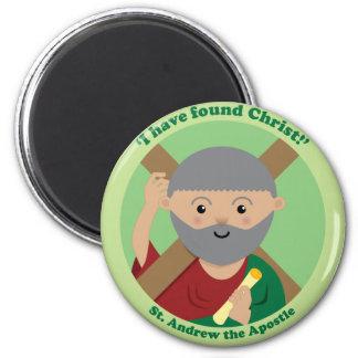 St. Andrew the Apostle 6 Cm Round Magnet