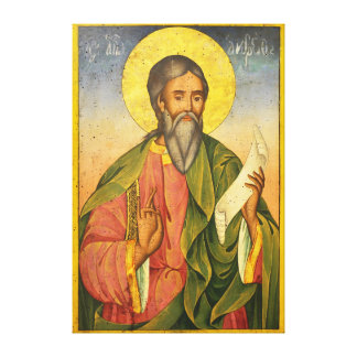 St. Andrew the Apostle by Yoan From Gabrovo Gallery Wrap Canvas