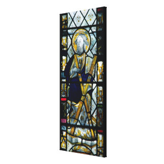 St. Andrew with Saltire Cross, British Canvas Print