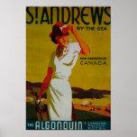 St. Andrews Algonquin Vintage PosterEurope Poster