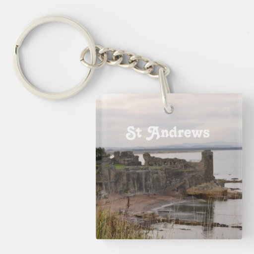 St Andrew's Castle Ruins Acrylic Keychain