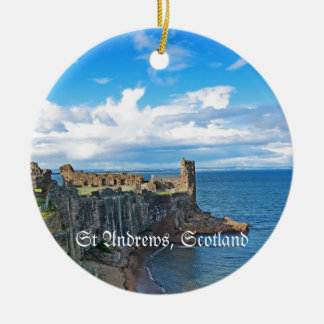 St Andrews Castle, Scotland Christmas Ornament