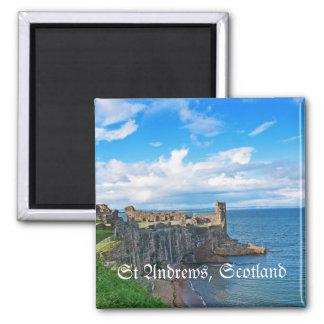 St Andrews Castle, Scotland Square Magnet