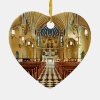 St Andrew's Catholic Church Roanoke Virginia Ceramic Heart Decoration