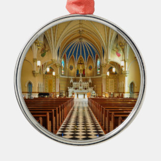 St Andrew's Catholic Church Roanoke Virginia Silver-Colored Round Decoration