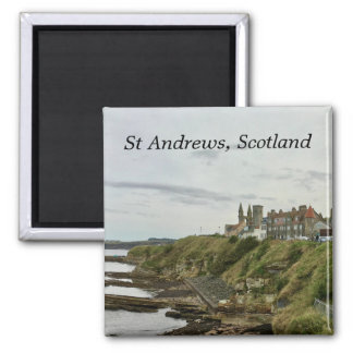 St Andrews Scotland Town Skyline View from Castle Magnet