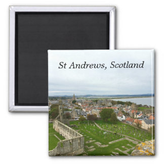 St Andrews Town Aerial View from Cathedral Tower Magnet