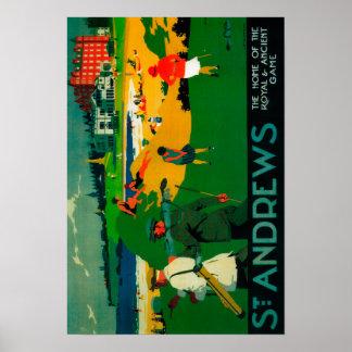 St. Andrews Vintage PosterEurope Poster