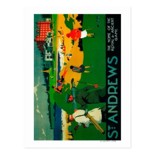 St. Andrews Vintage PosterEurope Post Card