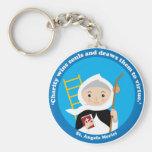 St. Angela Merici Basic Round Button Key Ring