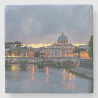 St. Angelo Bridge, St. Peter's Basilica, Rome Stone Coaster