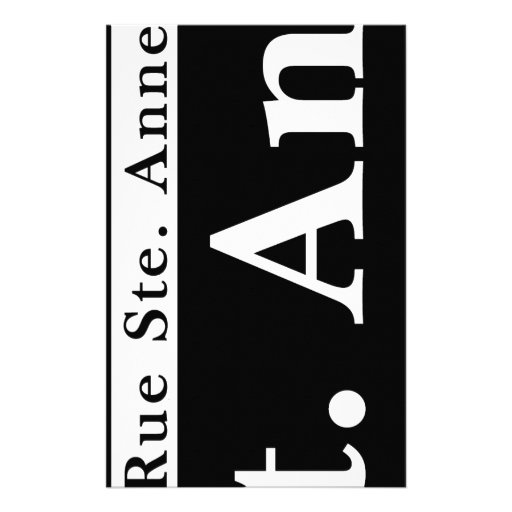 St. Ann St., New Orleans Street Sign Stationery Design